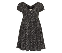 Kleid mit Knopfleiste schwarz