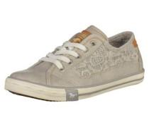 Sneaker mit Spitzendekor grau