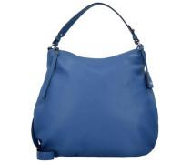 Adria Schultertasche Leder 38 cm blau