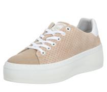 Sneaker weiß / dunkelbeige