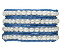 Armband blau / weiß