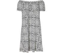 Sommerkleid dunkelgrau / weiß