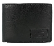 'Panama' Geldbörse Leder 11 cm schwarz