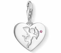Charm Herz 'Herz mit Amour 1382-011-10' rosé / silber