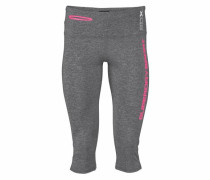 Funktionshose 'cross Capri' grau / pink