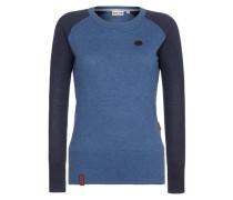 Shirt 'Female Knit High as a mother...' blau
