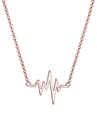 Halskette 'Herzschlag' rosegold