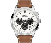 Chronograph 'so-3335-Lc' braun / hellbraun / schwarz / silber / weiß