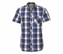 Hemd 'Pixel' blau / schwarz / weiß
