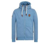 Zipped Jacket 'Birol IX' blaumeliert