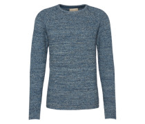 Pullover 'knit Structure' blau
