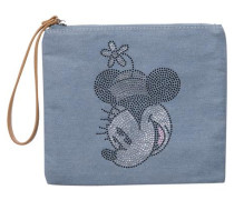 Denim-Clutch mit Disney-Motiv hellblau