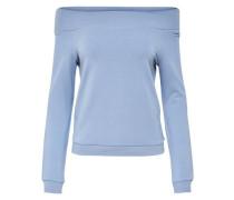 Off-Shoulder-Sweatshirt rauchblau