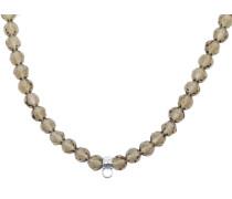 Halskette hellbraun / silber