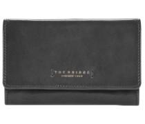 Passpartout Donna Geldbörse Leder 15 cm schwarz