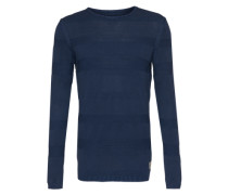 Pullover 'Structure Stripes' navy