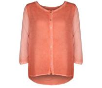 Bluse Button orange