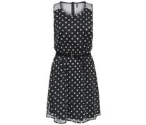 Bedrucktes Kleid ohne Ärmel navy
