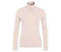 Shirt 'franziska' nude / weiß