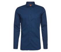 Hemd mit Haifisch-Kragen 'Cattitude' dunkelblau