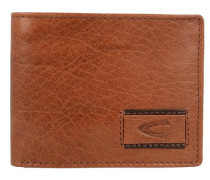 Geldbörse 'Panama II' aus Leder 11 cm braun / hellbraun