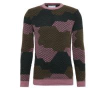 Pullover 'camopix' khaki / petrol / rosa