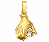 Kettenanhänger 'Hand' gold