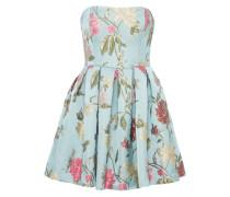 Kleid 'brocadeflower' blau / mischfarben