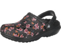 Classic Lined Graphic Clogs rosa / schwarz