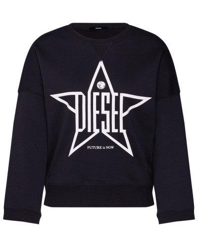 Sweatshirt 'f-Gertrude Sweat-Shirt' schwarz