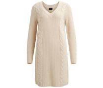 Kleid Zopfmuster - beige
