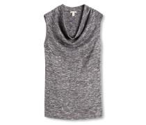 Shirt mit Wasserfallausschnitt grau