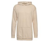 Sweatshirt 'Oversized Open Edge Slub Terry Hoody' beige