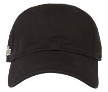 Cap mit Logo-Stickerei schwarz