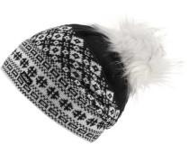 'Jördis' Bommelmütze schwarz / weiß