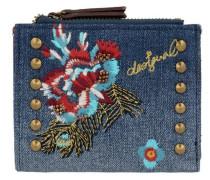 Mone_Two Zips Jade Geldbörse 11.5 cm blau / mischfarben / rot
