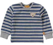 Baby Langarmshirt für Jungen blau / grau