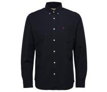 Oxford-Langarmhemd schwarz