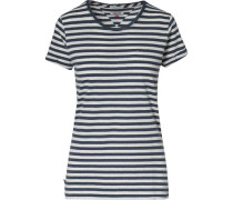 T-Shirt mit Streifen dunkelblau / weiß