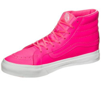 'Sk8-Hi Slim Neon' Leather Sneaker Damen neonpink