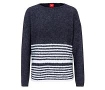 Pullover mit Streifen blau