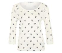 T-Shirt 'Onljess' mit süßen Herzmotiven offwhite / navy