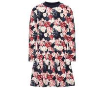Kleid mit langen Ärmeln Blumenbedrucktes blau / rosa / rot / weiß