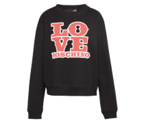 Sweater 'Love' rot / schwarz