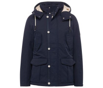 Jacket kurzer Parka mit Kapuze beige / navy