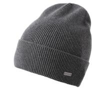 Mütze aus Rippstrick 'Fomeros' grau
