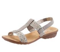 Sandale mit Nietenbesatz hellgrau