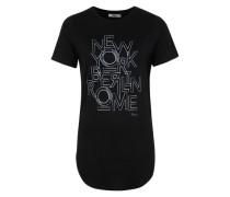 T-Shirt 'Locate' schwarz