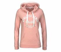 Denim Kapuzensweatshirt rosa / weiß