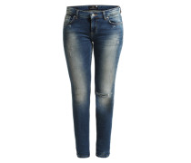 7/8-Skinny Jeans 'Mina' blau